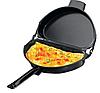 Двойная сковорода для омлета Folding Omelette Pan | Омлетница с антипригарным покрытием, фото 3