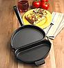 Двойная сковорода для омлета Folding Omelette Pan | Омлетница с антипригарным покрытием, фото 5