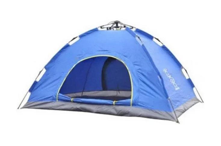 Палатка автоматическая 2-х местная | Палатка кемпинговая Smart Camp | Синяя