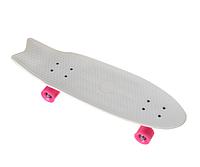 Пенни борд Penny Board YB-28 со светящимися колесами | Белый