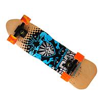 Скейтборд 823 | Наждак с PU колесами | Щит