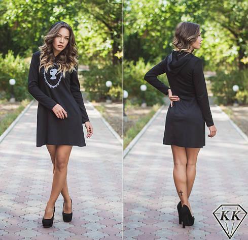 Черное платье 15872, фото 2