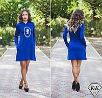 Синее платье 15872