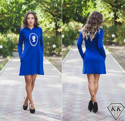 Синее платье 15872, фото 2