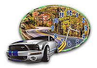 Оригинальные 3D часы настенные фигурные Erpol Трасса в осеннем лесу 30x45 см