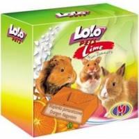 LoloPets (Лоло Петс) Минеральный камень для грызунов, апельсин 40гр