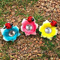 Светильник садово-парковый на солнечной батарее Lemanso Cab132 цветок