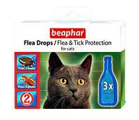 Beaphar (Беафар) Капли против блох и клещей для кошек 3шт