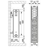 Стальной радиатор 22х500х700.S KOER (бок. подключение) (RAD055), фото 4