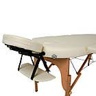 Массажный стол деревянный 2-х сегментный RelaxLine Sri Lanka кушетка массажная для массажа, фото 4