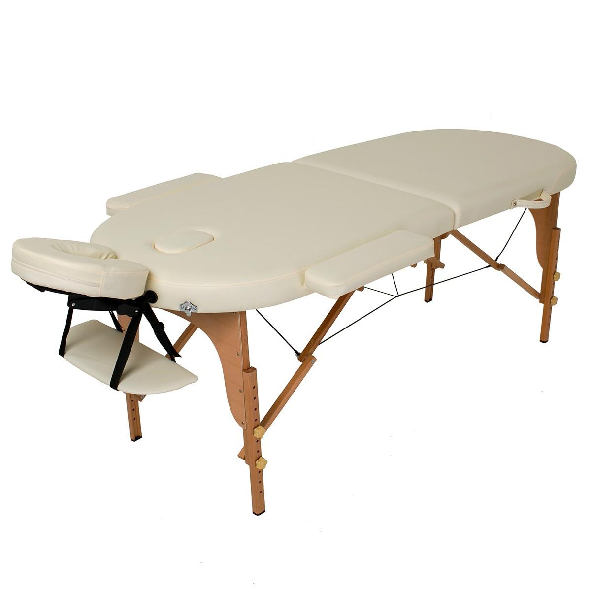 Массажный стол деревянный 2-х сегментный RelaxLine Sri Lanka кушетка массажная для массажа