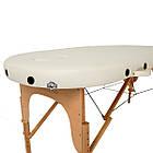Массажный стол деревянный 2-х сегментный RelaxLine Sri Lanka кушетка массажная для массажа, фото 3