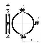 """Хомут трубный оцинкованный KOER KC.20 4"""" (110-118) (без анкера) черный (KR2802), фото 2"""