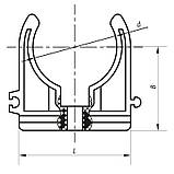 Крепление для PPR трубы 32 KOER K0076.PRO (KP0091), фото 2