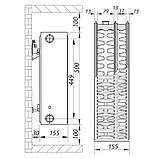 Стальной радиатор 33х500х1100.S KOER (бок. подключение) (RAD123), фото 5