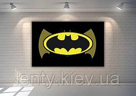 """Плакат 120х75 см """"Бетмен / Бетмен / Batman"""" (чорний фон, жовтий лого) для Кенді - бару (Тематичний)-"""