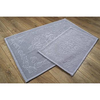 Набор ковриков Irya - Carissa gri серый 60*90+40*60
