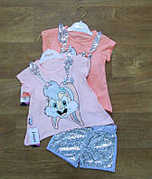 Летний костюм для девочки Турция,инетрнет магазин,детская одежда Турция,турецкий детский трикотаж,хлопок
