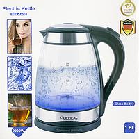 Електрочайник Lexical LEK-1406 скло 2200Вт