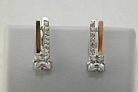Серебряные сережки c золотыми накладками