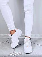 Белые кроссовки  из эко-кожи 38 размер, фото 1
