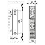 Стальной радиатор 22х500х800.S KOER (бок. подключение) (RAD056), фото 2