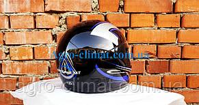 Шлемы для мотоциклов Hel-Met 101 черный синий рисунок, фото 2