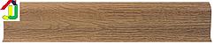 Плінтус пластиковий LinePlast L002 Горіх волоський з кабель-каналом, підлоговий з м'якими краями