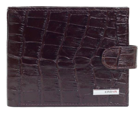 Кошелёк  коричневого цвета Karya 0431-57 под крокодил