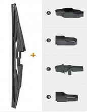 Щетка стеклоочистителя заднего стекла каркасная 12`/300 мм (с 4 адаптерами)