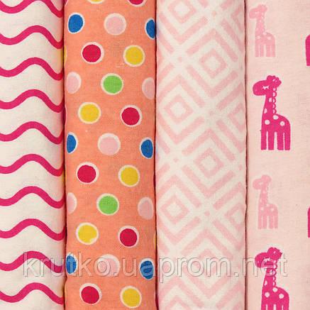 Пеленка фланелевая 73 х 73 см. Жирафы (4 шт.) Berni, фото 2