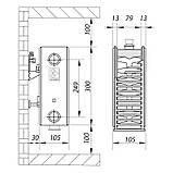 Стальной радиатор 22х300х2000.B KOER (нижнее подключение) (RAD111), фото 2