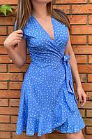 Женское летнее платье в горох