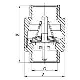 "Клапан обратный KOER (никелированный) 1/2"" (KOER KR.172.N) (KR2780), фото 2"