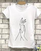Женская футболка летняя с руками