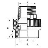 Муфта НР 40x1.1/4M PPR KOER K0100.PRO (KP0119), фото 2