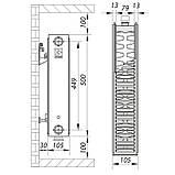 Стальной радиатор 22х500х1400.B KOER (нижнее подключение) (RAD092), фото 2