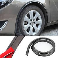 Резиновая защита - расширение арок крыльев авто Samurai универсальная 4D карбон / 4шт по 150см