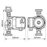 Насос циркуляционный центробеж. KOER KP.GRS-25/4-180 (с гайками, кабелем и вилкой) (KP0248), фото 4