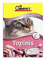 Gimpet (Джимпет) Витамины для кошек Topins, творог 190таб