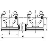 Двойное крепление для PPR трубы 20 KOER K0080.PRO (KP0096), фото 2