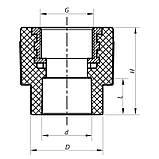 Муфта ВР 25x1/2F PPR KOER K0087.PRO (KP0105), фото 2
