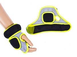 Перчатки IronMaster с утяжелителем (2x0,5кг, салатово-черный)