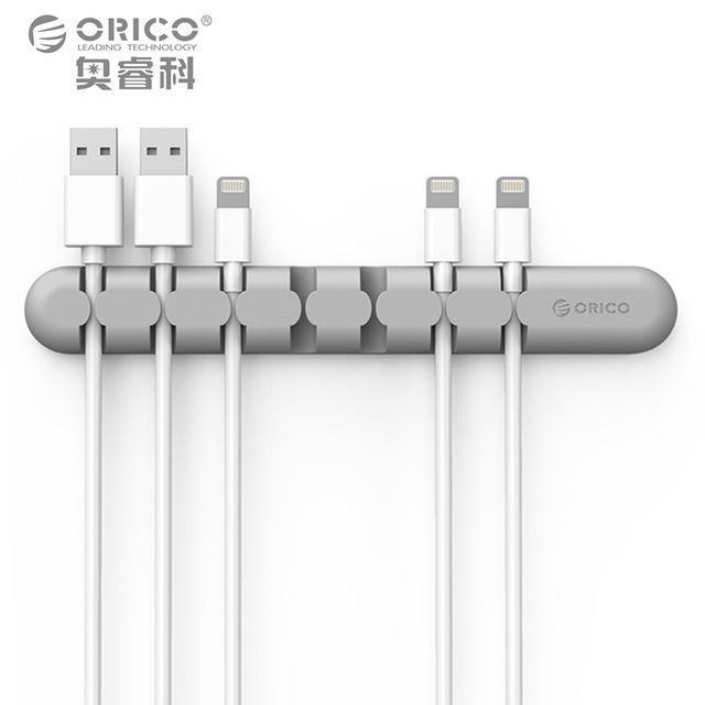 Кабельный органайзер ORICO Gray для 7 кабелей