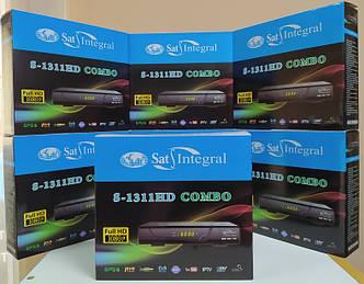 Комбинированный ресивер приставка тюнер декодер Sat Integral S-1311 HD Combo DVB-T/T2+S/S2