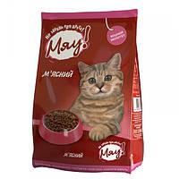 МЯУ Сухой корм для котов, мясо 11кг