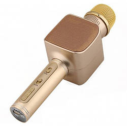Беспроводная портативная колонка + караоке микрофон 2 в 1 Magic Karaoke YS-68 Светло-розовый