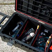 Ящик для инструментов на колесах QBRICK SYSTEM LONGER BASIC Размер : 793 x 385 x 322, фото 3