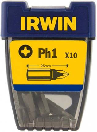 """Бита Phillips INSERT BIT 1/4""""/25мм PH2 10шт, IRWIN, фото 2"""