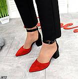 Шикарные летние туфли женские на каблуке, фото 3